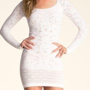 Bebe Crochet bodycon dress